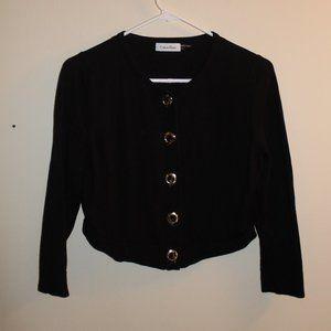 Calvin Klein Black Crop Cardigan Large